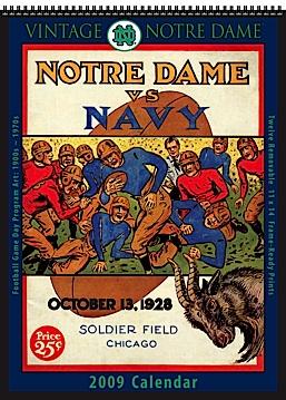 2009 Vintage Notre Dame 2009 Calendar