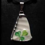 Vintage Irish Belleek Plate Shard Pendant