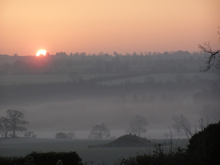 Sunrise in the Boyne Valley