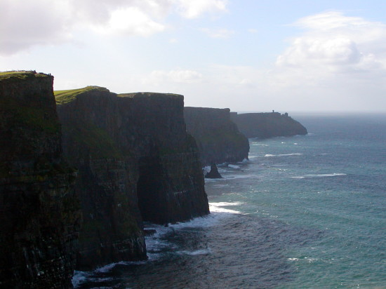 The Cliffs of Moher are a must-see, whether its a clear day or lashing rain. Photo by Georgia Beaverson.