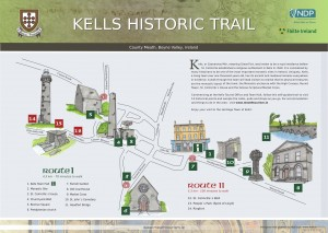 Snapshop of a walking tour of Kells Ireland