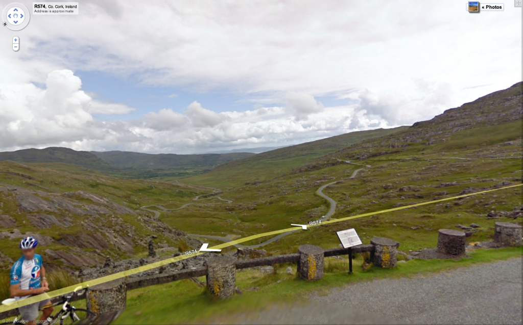 Healy Pass on Google Maps Street View