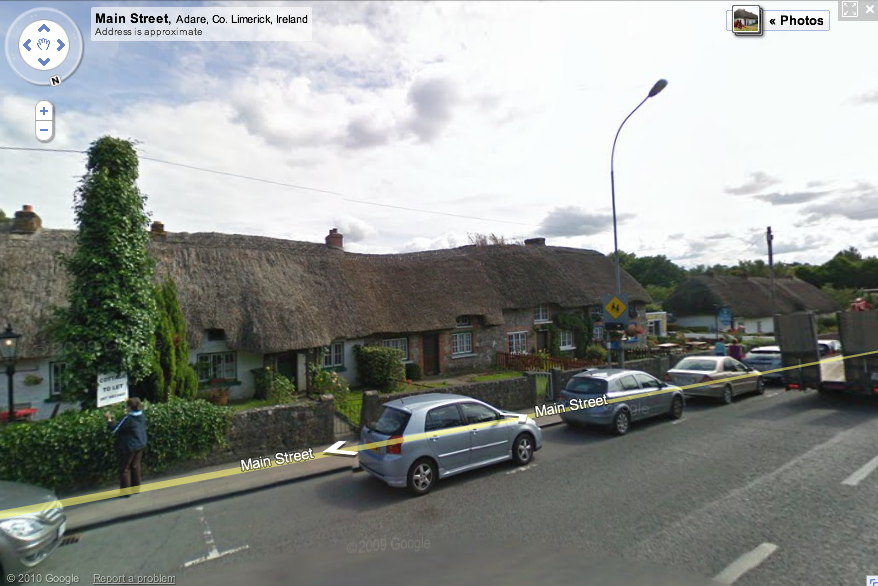 The village of Adare on Google Maps Street View