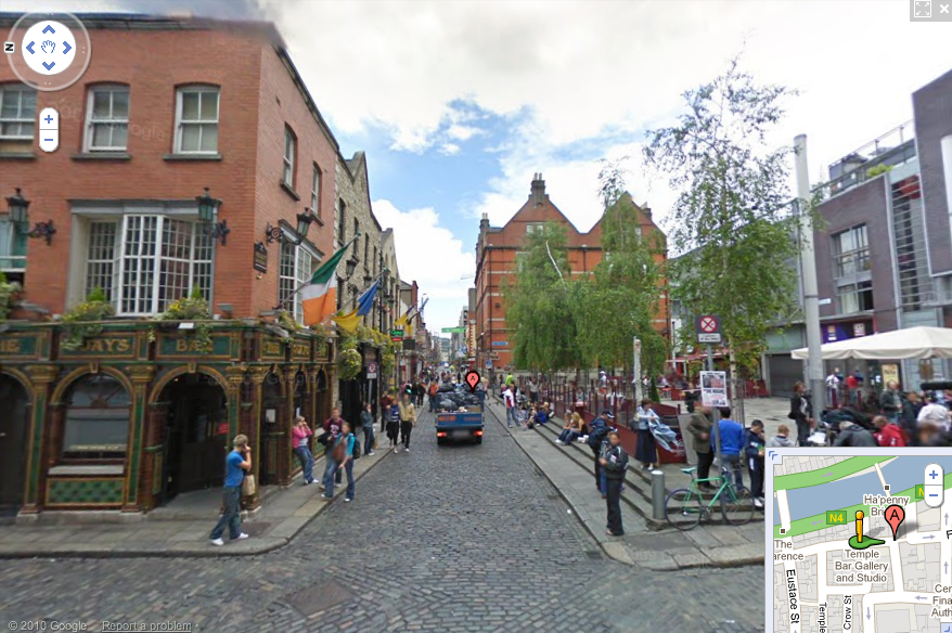 Temple Bar Dublin on Google Maps Street View