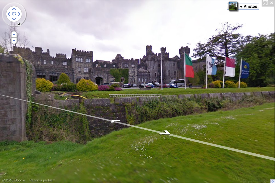 Ashford Castle in Cong, County Mayo on Google Maps