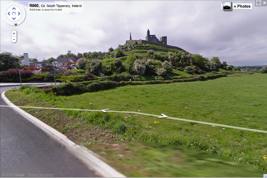 Rock of Cashel on Google Maps Street View