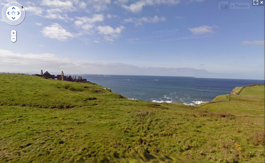 Dunluce Castle on Google Maps Street View