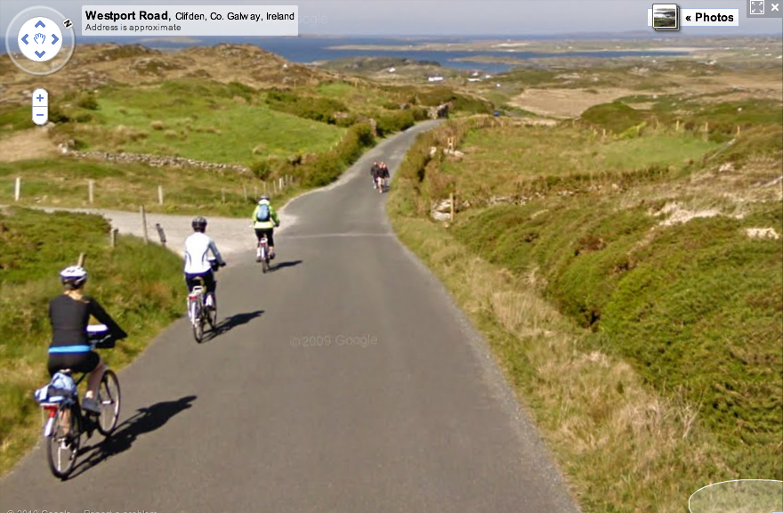 Sky Road Near Clifden, County Galway on Google Maps Street View - CLICK IMAGE to interact