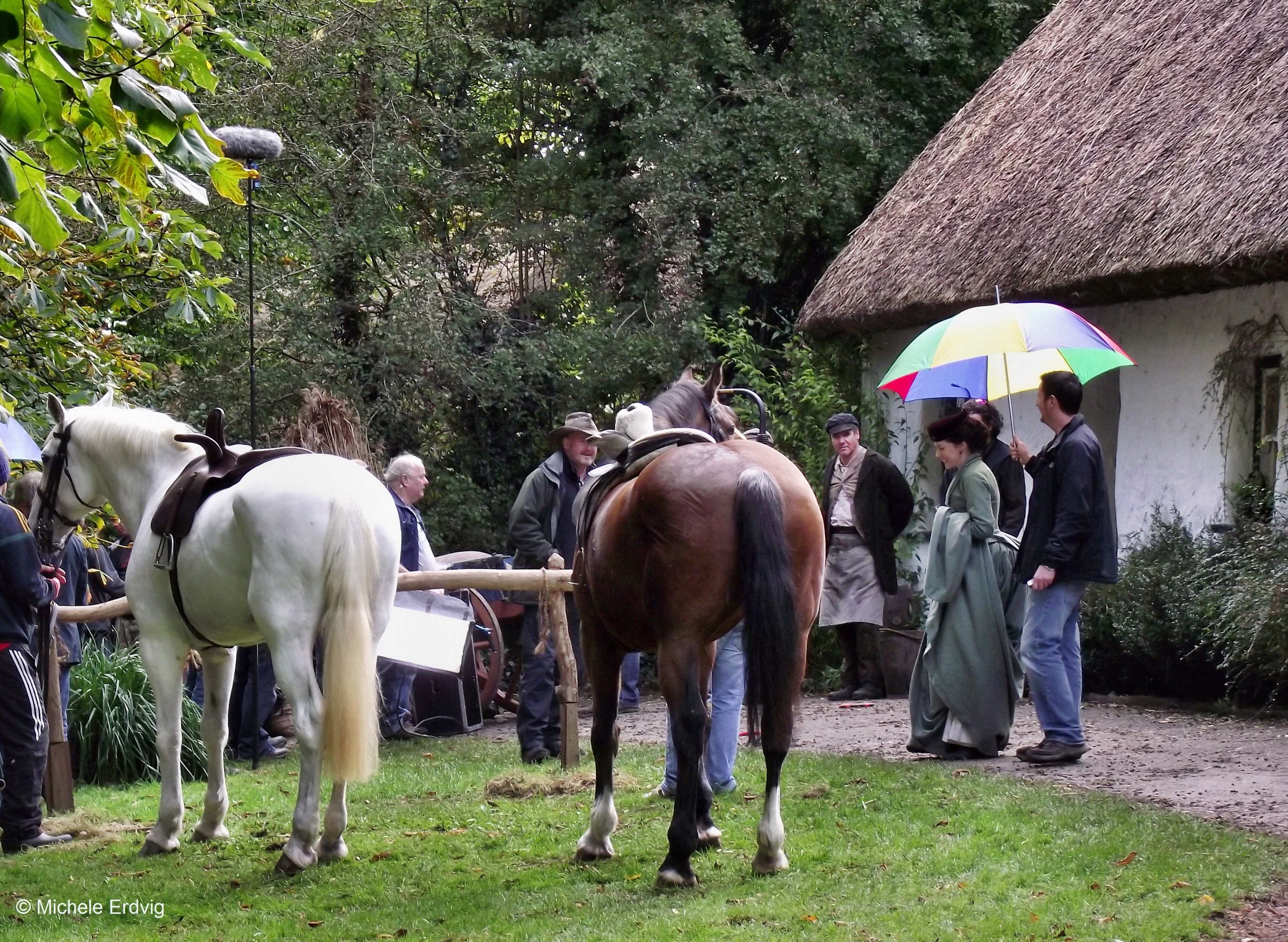 Filming at Bunratty Folk Park