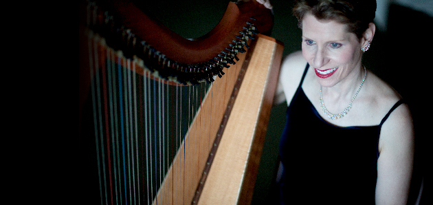 Anne Roos on the Celtic harp