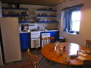 Kitchen in Pier Cottage self-catering