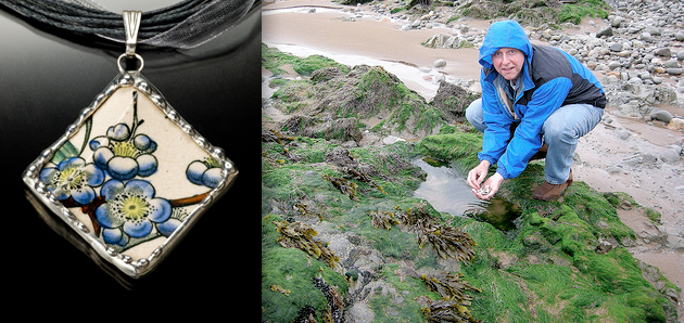 Liam collecting shards in Ireland