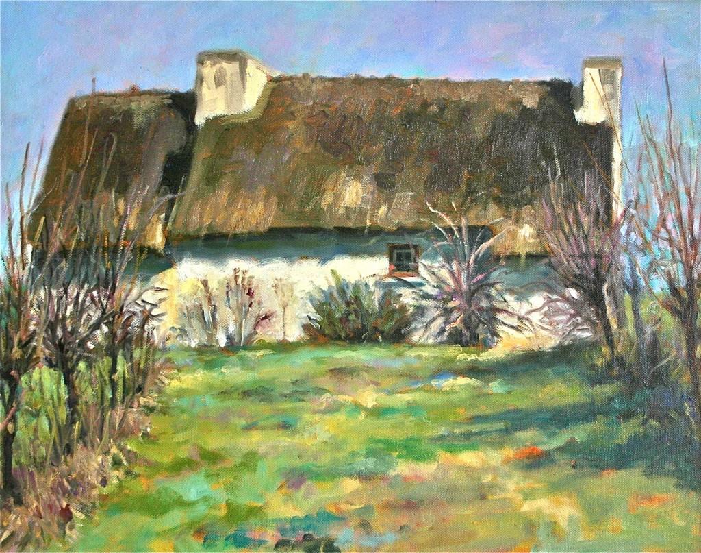 Near the Blue Wagon by Elaine Hurst