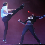 Lord of the Dance 3D - Michael Flatley gives one of several high kicks