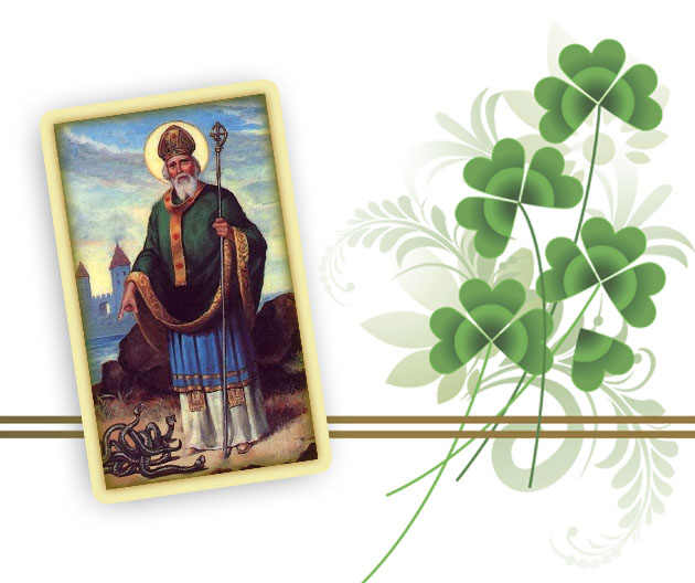 St Patrick and Shamrocks