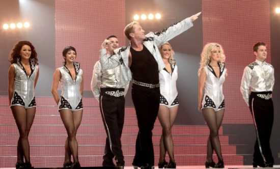 Fortunately, Michael Flatley strikes his signature pose about three times in the film.