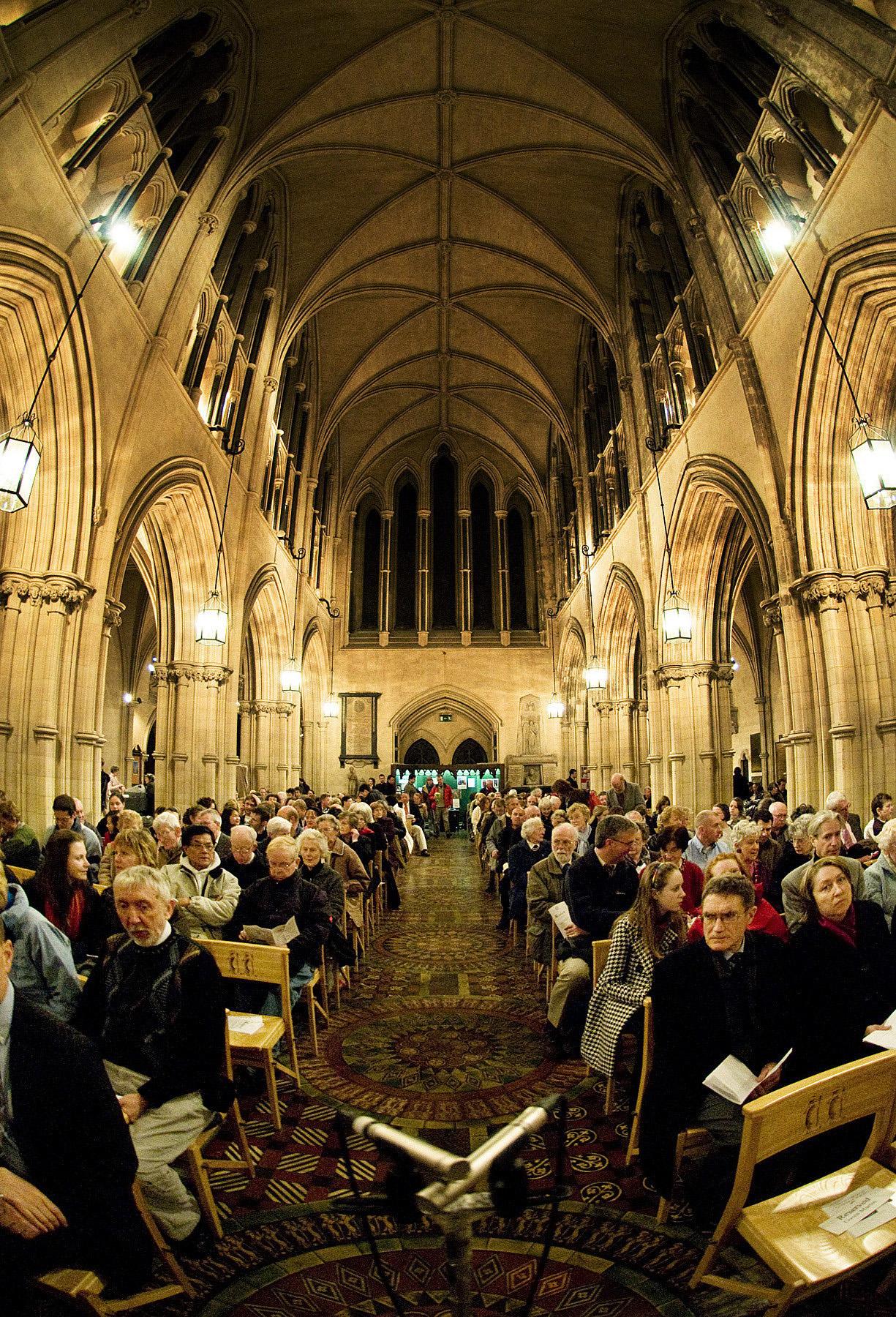 Inside Christ Church, Dublin. Photo courtesy of www.visitdublin.com