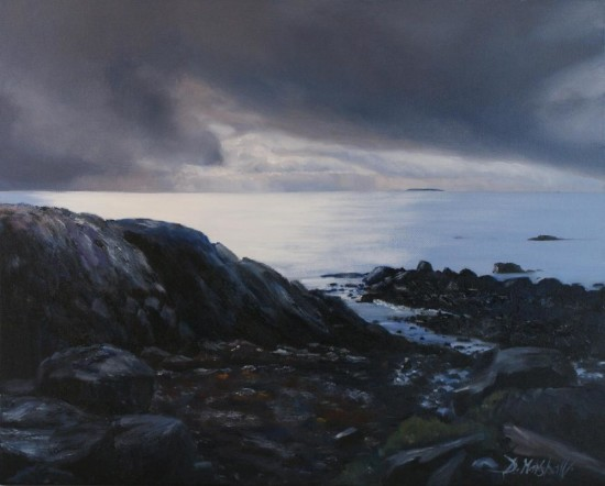 Changing Mood by Diana Marshall - an oil painting of Galway Bay