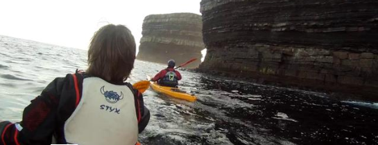Kayaking Downpatrick Head