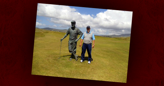 jim sanford on the links course in Waterville, County Kerry, Ireland