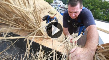 Meet the Guys Thatching the Roof of This New Jersey Irish Pub