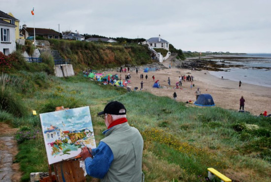 Plein air painting in Wexford