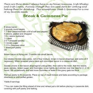 Steak and Guinness Pie Recipe