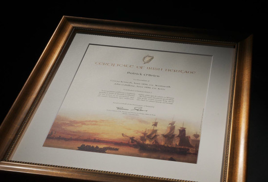 Certificate of Irish Heritage