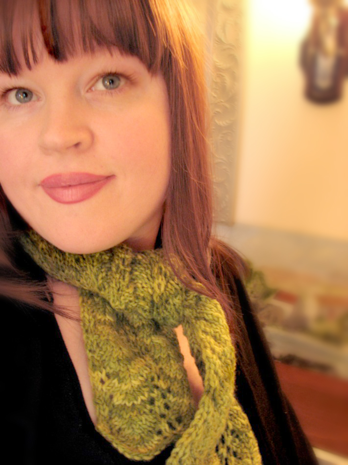 I got the most gorgeous green scalloped edge scarf from Sherry Yates! This was lots of fun! -- Ruby Clover --