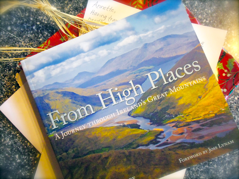 My Secret Santa Carla Moser sent me a beautiful book called From High Place... mountain photos from all over Ireland. I am know dreaming of visiting some of those place. -- Annette Taratuta --