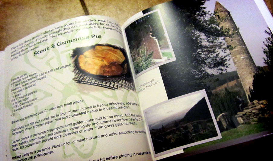 It's a wonderful Irish cookbook with pictures from Ireland throughout, sent by Jody Halsted. My wife Cheryl and I can't wait to try out some of the recipes! -- Ernie Huntley --