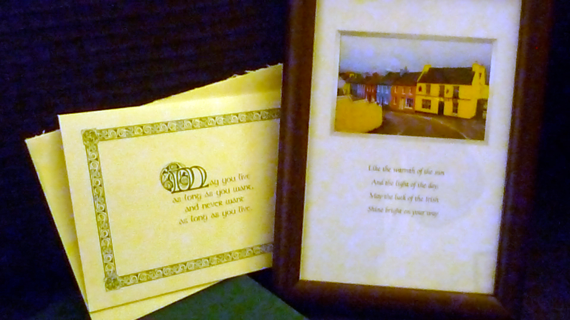 I received a beautiful picture frame with an irish blessing from my Secret Santa Karen Coles. It sure brightened our Christmas this year! Thank you, Karen! -- Claudine Schurian --