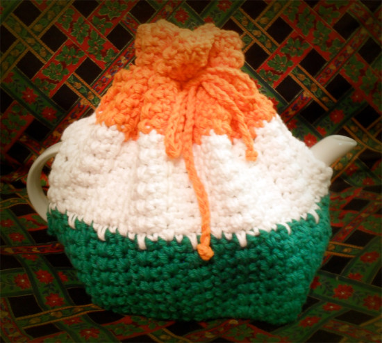 Irish Tri-Color Tea Cozy