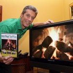 Dermot Ryan with his Irish Peat Turf Fire DVD