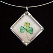 "Belleek Shamrock & ""If you're Irish, come into the parlour"""