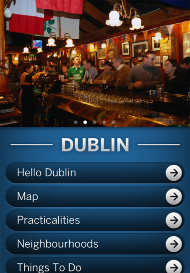 Lonely Planet App Dublin