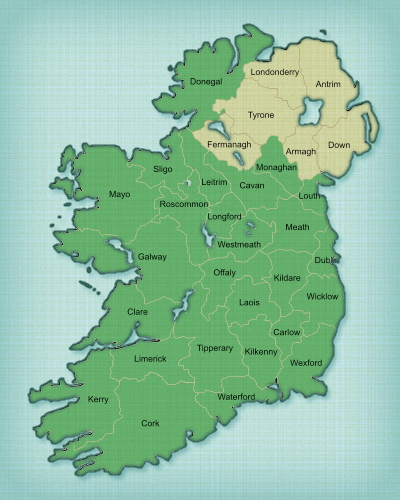 Map Of Ireland 26 Counties.Clueless About Irish Counties Irish Fireside Travel And Culture