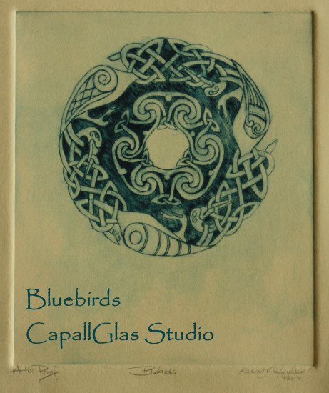 Blue Birds by CapallGlas Studio