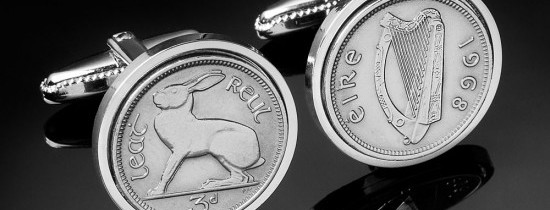 Irish Coin Cufflinks Giveaway for Father's Day