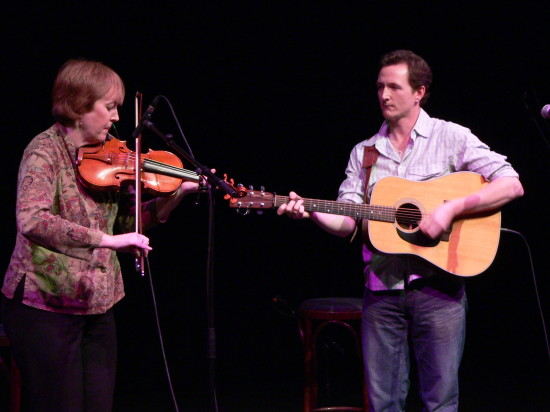 Liz Carroll and John Doyle - Photo copyright Kerry Dexter