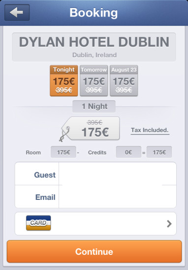 Blink booking page (note the option to book for more than one night at this property)