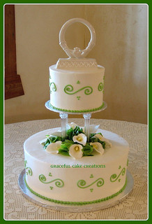 Belles of Ireland Wedding Cake