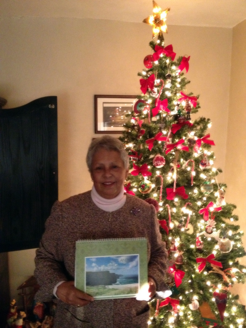 I love the the very nice calendar I received from Christy in West Virginia... will enjoy it all year long. -- Betty
