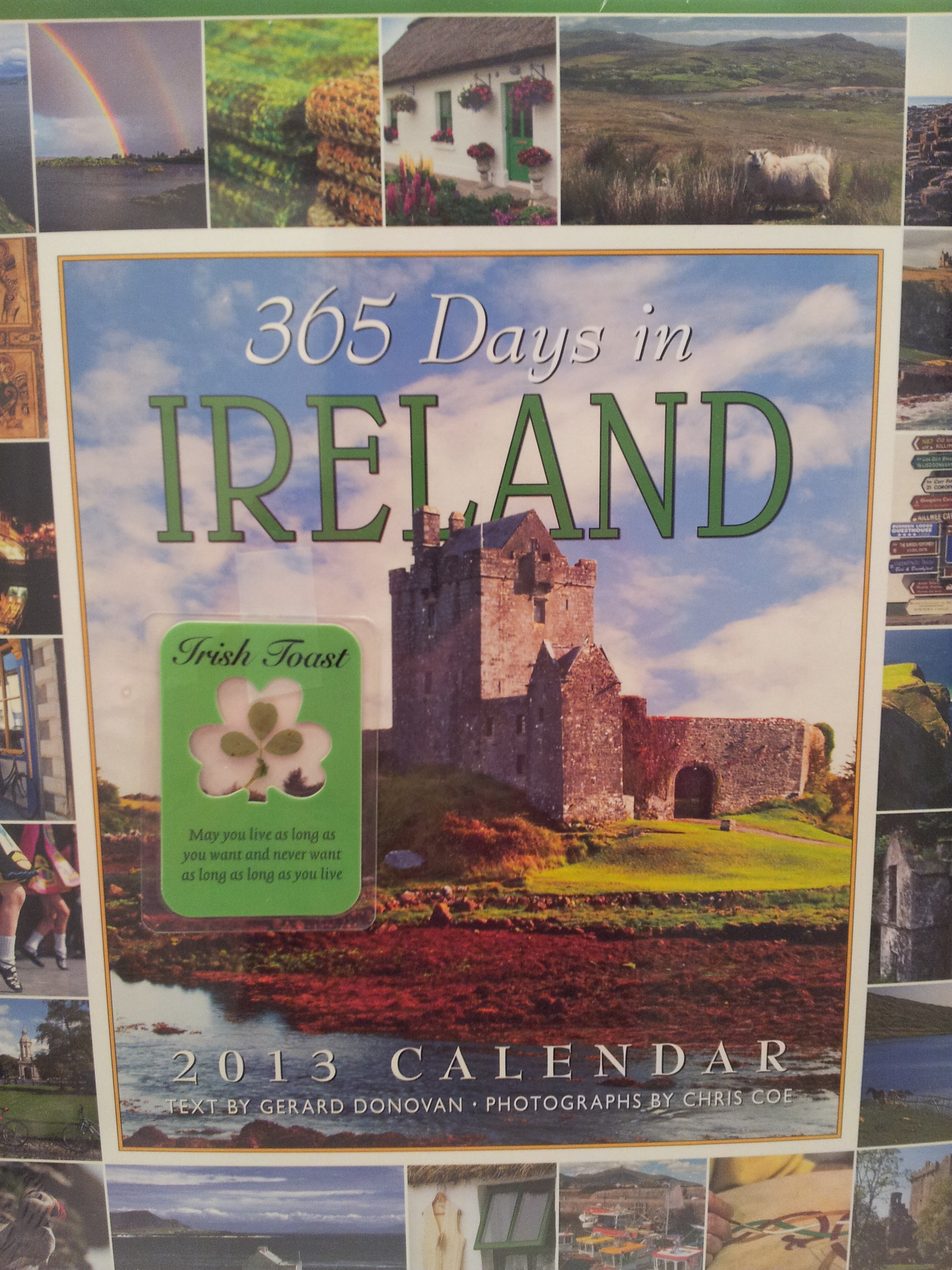I received a great Irish calendar and a shamrock and toast from my Secret Santa Stephanie in Missouri.  -- Susan