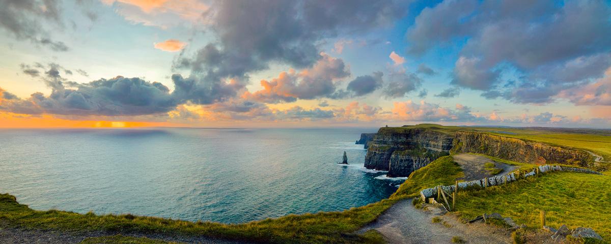artists eye irelands west coast  sunset irish fireside travel  culture