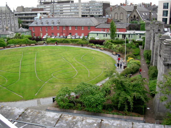 View of the Dublin Castle courtyard from the rooftop patio at the Chester Beatty Library - Photo by Corey Taratuta