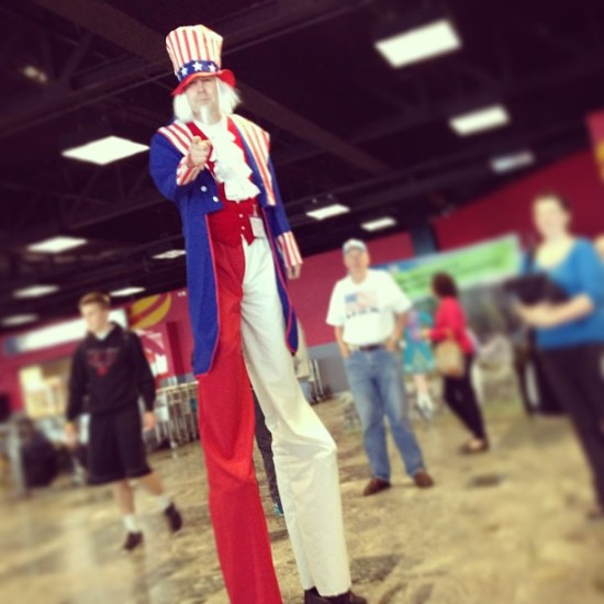 Uncle Sam greeting visitors at Shannon Airport.
