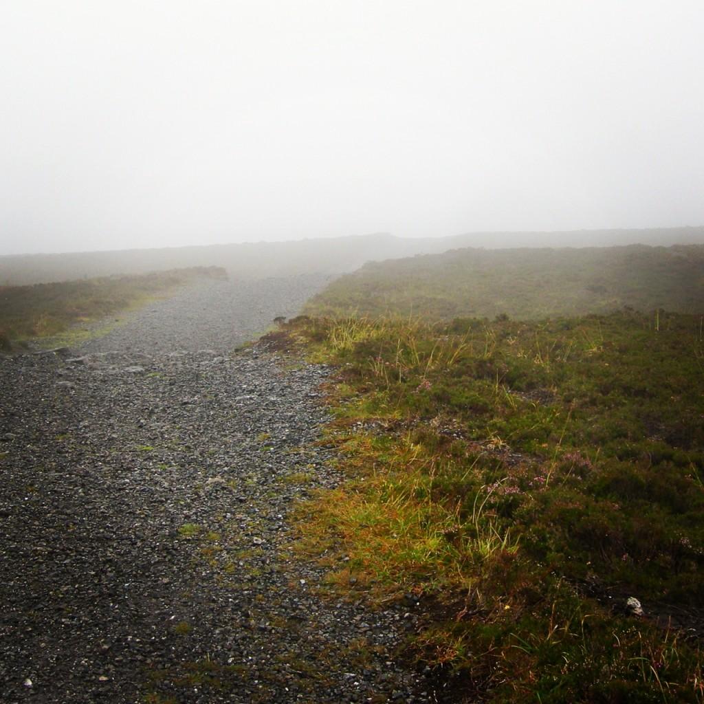 The path near the top of Knocknarea.