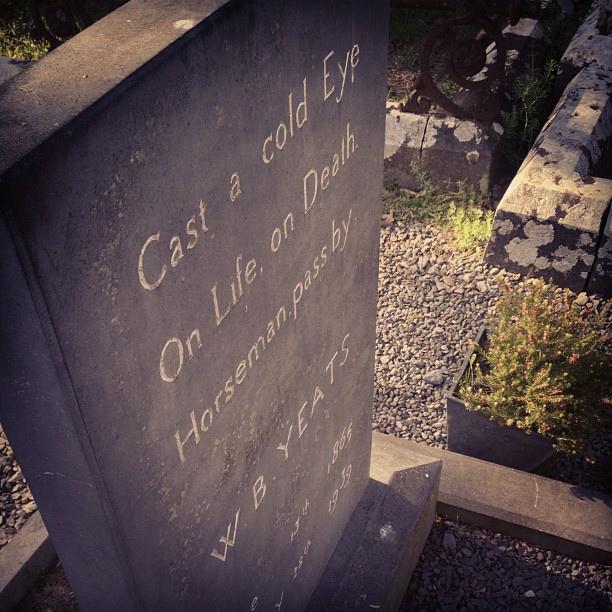 Yeats' grave.