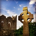 Celtic cross at Askeaton Friary